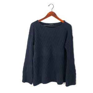 Ann Taylor M sweater twisted ribbed wool alpaca